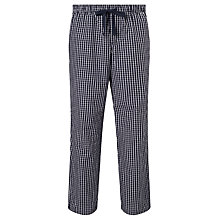 Buy John Lewis Bob Gingham Check Woven Cotton Pyjama Bottoms, Navy/White Online at johnlewis.com