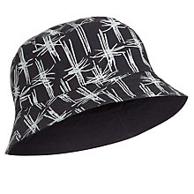 Buy JOHN LEWIS & Co. Reversible Printed Bucket Hat, Navy Online at johnlewis.com