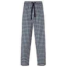 Buy John Lewis Alli Oxford Check Lounge Pants, Navy/White Online at johnlewis.com