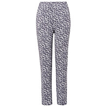Buy Phase Eight Gill Jersey Print Trousers, Charcoal/Ivory Online at johnlewis.com