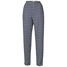 Buy Fat Face Batik Star Rayon Trousers, Navy Online at johnlewis.com