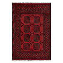 Buy John Lewis Afghan Rug, Red Online at johnlewis.com