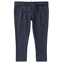 Buy Jigsaw Junior Girls' Polka Dot Baggy Trousers, Navy Online at johnlewis.com