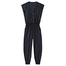 Buy Jigsaw Junior Girls' Polka Dot Jumpsuit, Navy Online at johnlewis.com
