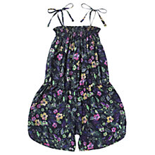 Buy Jigsaw Junior Girls' Rainforest Floral Print Playsuit, Navy/Multi Online at johnlewis.com