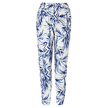 Buy Phase Eight Palm Print Trousers, Blue/White Online at johnlewis.com