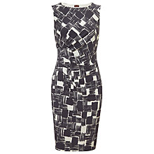 Buy Phase Eight Celina Check Dress, Charcoal/White Online at johnlewis.com