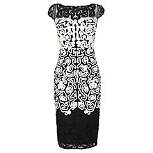 Buy Phase Eight Akiko Tapework Dress, Black/White Online at johnlewis.com