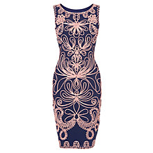 Buy Phase Eight Camilla Tapework Dress, Navy/Powder Online at johnlewis.com