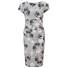 Buy Phase Eight Eden Cap Sleeve Dress, Grey/Pink Online at johnlewis.com