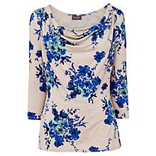 Buy Phase Eight Evie Print Top, Taupe/Blue Online at johnlewis.com