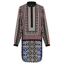 Buy Warehouse Aztec Scarf Shirt Dress, Multi Online at johnlewis.com