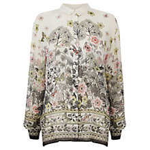 Buy Warehouse Butterfly Print Blouse, Neutral Online at johnlewis.com