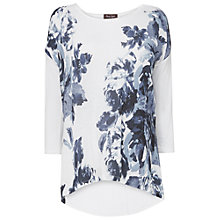 Buy Jacques Vert Fabien Print Top, White/Grey Online at johnlewis.com
