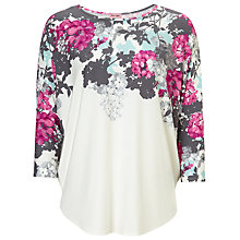 Buy Phase Eight Eleonora Print Top, Ivory / Pink Online at johnlewis.com