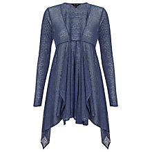 Buy Phase Eight Diane Dip Hem Cardigan, Denim Online at johnlewis.com