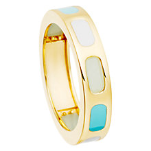 Buy Astley Clarke Prismic Slice Duck Egg Amazonite Ring, Gold Online at johnlewis.com