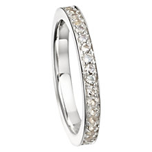 Buy Astley Clarke Moonstone Infinity Ring, Silver Online at johnlewis.com