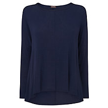 Buy Phase Eight Dory Dip Hem Top, Navy Online at johnlewis.com