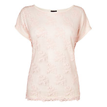 Buy Phase Eight Eadie Embroidered Top, Soft Pink Online at johnlewis.com