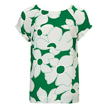 Buy Phase Eight Frances Blouse, Palm Green/Ivory Online at johnlewis.com