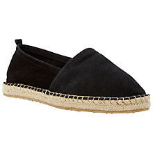 Buy Dune Gepsy Leather Espadrilles, Black Online at johnlewis.com