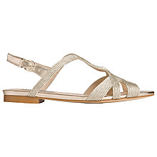 Buy L.K. Bennett Winnie Rope Sandals, Gold Online at johnlewis.com
