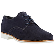 Buy Dune Fret Suede Brogues, Navy Online at johnlewis.com