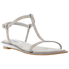 Buy Dune Nattasha Leather Rhinestone Sandals Online at johnlewis.com