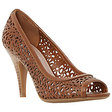 Buy Dune Colette Cut Away Peep Toe Court Shoes, Tan Online at johnlewis.com