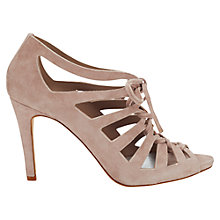 Buy Jigsaw Gladiator Cut Away Stiletto Court Shoes Online at johnlewis.com