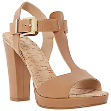 Buy Dune Jasmin Leather T-Bar Block Heel Sandals Online at johnlewis.com