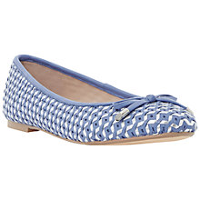 Buy Dune Hobbi Leather Woven Ballerina Pumps, Blue Online at johnlewis.com