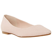 Buy Dune Amarie Pointy Reptile Pumps, Blush Online at johnlewis.com