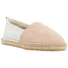 Buy Dune Gepsy Leather Espadrilles, Nude Online at johnlewis.com