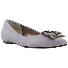 Buy Dune Briella Embellished Toe Point Flat Pumps Online at johnlewis.com