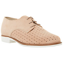 Buy Dune Fret Suede Brogues, Pink Online at johnlewis.com