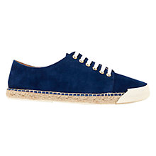 Buy Mint Velvet Paris Suede Espadrille Plimsolls, Navy Online at johnlewis.com