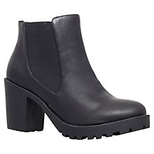 Buy Carvela Stampede Block Heel Ankle Boots, Black Online at johnlewis.com
