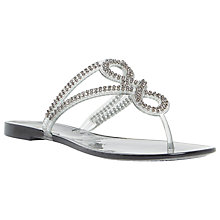 Buy Dune Jellyanne Diamante Sandals, Grey Online at johnlewis.com