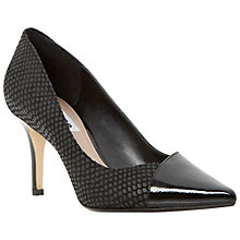 Buy Dune Aleni Pointed Court Shoes, Black Patent Online at johnlewis.com