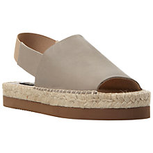 Buy Dune Black Lilah Leather Flatform Espadrilles Online at johnlewis.com