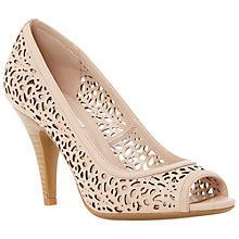Buy Dune Colette Leather Cut Out Court Shoes, Nude Online at johnlewis.com