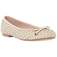 Buy Dune Hobbi Leather Woven Ballerina Pumps, Nude Online at johnlewis.com