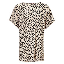Buy Phase Eight Lynne Spot Tunic Top, Stone/Black Online at johnlewis.com