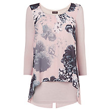 Buy Phase Eight Muriel Print Blouse, Blush Online at johnlewis.com