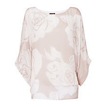 Buy Phase Eight Frankie Silk Blouse, Stone/Ivory Online at johnlewis.com