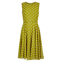 Buy Hobbs Spot Abigale Dress, Lily Green Online at johnlewis.com