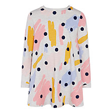 Buy Kin by John Lewis Long Sleeve Paintbrush Tunic, Grey Online at johnlewis.com