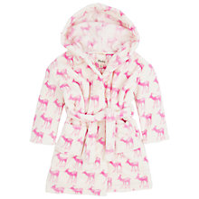 Buy Hatley Girls' Soft Deer Dressing Gown, Pink Online at johnlewis.com